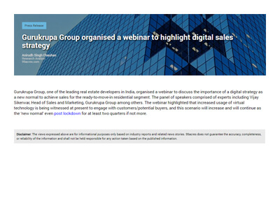 Gurukrupa Group organised a webinar to highlight digital sales strategy