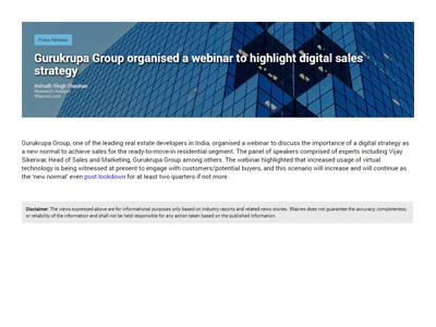 Gurukrupa Group organised a webinar to highlight digital sales strategy