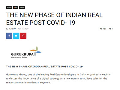 The New Phase of Indian Real Estate Post Covid- 19